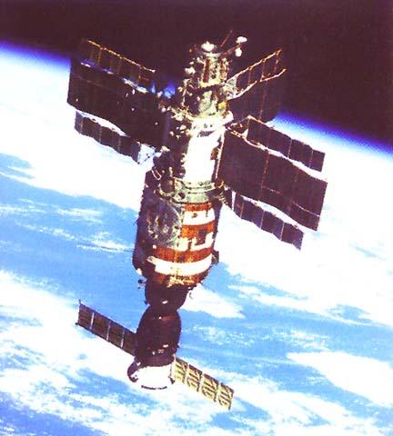 Орбитальная станция салют 7 с кк союз