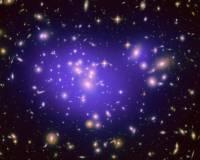 Карта Темной Материи в галактическом кластере