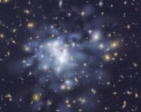 Карта темной материи в Abell 1689