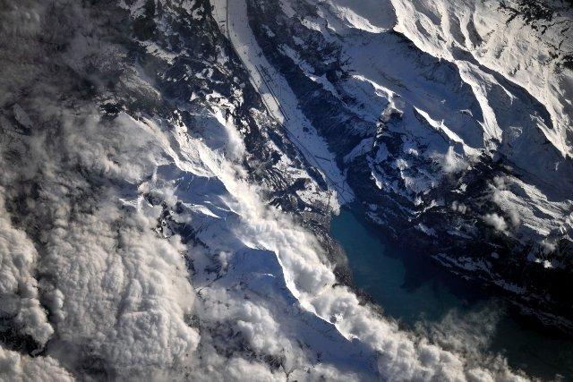 Альпы вид из космоса