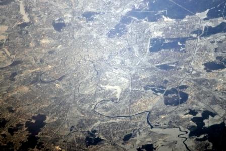 Москва вид из космоса